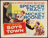 """Boys Town (MGM, R-1957). Half Sheet (22"""" X 28"""") and Lobby Cards (2) (11"""" X 14""""). Drama. ... (Total:..."""