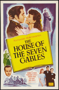 "The House of the Seven Gables (Realart, R-1953). One Sheet (27"" X 41""). Thriller"