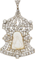Estate Jewelry:Pendants and Lockets, Victorian Diamond, Mother-of-Pearl, Platinum-Topped Gold Pendant....