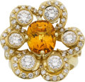 Estate Jewelry:Rings, Yellow Sapphire, Diamond, Gold Ring, Donna Pizarro. ...