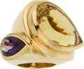 Estate Jewelry:Rings, Citrine, Amethyst, Gold Ring. ...