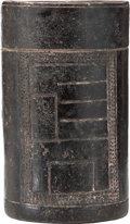 Antiques:Antiquities, Maya Blackware Cylinder Vessel...