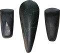 Antiques:Antiquities, A Lot of Three Polished Stone Celts... (Total: 3 Items)