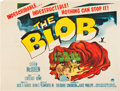 "Movie Posters:Science Fiction, The Blob (Paramount, 1958). Trimmed British Quad (29.75"" X 39.25"").Science Fiction.. ..."
