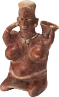 Antiques:Antiquities, Seated Jalisco Woman Holding Bowl...