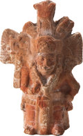 Antiques:Antiquities, Maya Molded Whistling Figure...