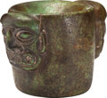 Antiques:Antiquities, A Chavin Mortar with Two Faces...