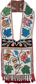 American Indian Art:Beadwork and Quillwork, A CHIPPEWA BEADED CLOTH BANDOLIER . c. 1900...
