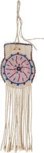 American Indian Art:Beadwork and Quillwork, A SOUTHERN PLAINS BEADED HIDE POUCH. c. 1910...