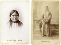 American Indian Art:Photographs, WALKING COW and SHOOTING STAR . c. 1895 and 1880. ... (Total: 2Items)