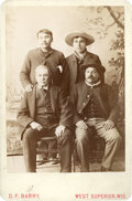 American Indian Art:Photographs, FOUR SIOUX INDIAN POLICE . c. 1890...