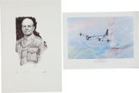 Two WWII Aviation Related Prints: Jimmy Doolittle Limited Edition Print and Enola Gay Print Signed by Paul Tibbets