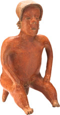 Antiques:Antiquities, Nayarit Male Bench Figure...