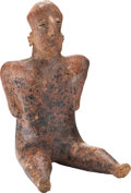 Antiques:Antiquities, Nayarit Seated Female Figure...