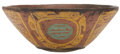 Antiques:Antiquities, Lacquered Bowl with Circular Patterns and Owls...