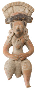 Antiques:Antiquities, Huastec Figure with Tall Headdress...