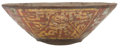 Antiques:Antiquities, Lacquered Bowl with Stars and Owl...