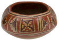 Antiques:Antiquities, Four-Lobed Polychrome Bowl...