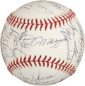 Autographs:Baseballs, 1970's New York Yankees Old Timers' Day Signed Baseball withMantle, DiMaggio....