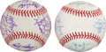 Autographs:Baseballs, Late 1980's Minnesota Twins Signed Baseballs Lot of 2....