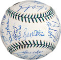 Autographs:Baseballs, 2001 National League All-Star Team Signed Baseball....
