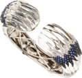 Estate Jewelry:Bracelets, Carved Rock Crystal Quartz, Sapphire, Diamond, Gold Bracelet. ...