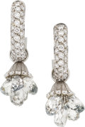 Estate Jewelry:Earrings, Diamond, Sapphire, White Gold Convertible Earrings. ... (Total: 4Items)