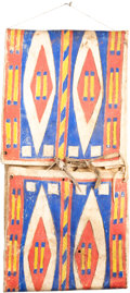 American Indian Art:Pipes, Tools, and Weapons, A SIOUX PAINTED PARFLECHE STORAGE ENVELOPE. c. 1890...