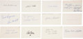 Baseball Collectibles:Others, 1936 Major League Baseball Debut Year Signed Index Cards andGovernment Postcards Lot of 91. ...