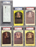Baseball Collectibles:Others, Baseball Legends Signed Memorabilia Lot of 6....