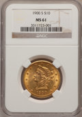 Liberty Eagles: , 1900-S $10 MS61 NGC. NGC Census: (25/26). PCGS Population (20/53).Mintage: 81,000. Numismedia Wsl. Price for problem free ...