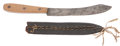 Military & Patriotic:Indian Wars, American Western Skinning Knife and Sheath C. 1870....