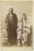 American Indian Art:Photographs, TWO SIOUX MEN. c. 1890...