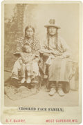 American Indian Art:Photographs, CROOKED FACE FAMILY -- CROW. c. 1890...