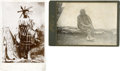American Indian Art:Photographs, PLATEAU BRAVE and SIOUX MAN . c. 1890 ... (Total: 2 Items)