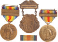 Military & Patriotic:WWI, Two Named US WWI Victory Medals.... (Total: 3 Items)