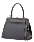 Luxury Accessories:Bags, Delvaux 4-Way Black Illusion Jumping Tote with Black Rubber, BlackLeather, Black Fur, and Cream Leather Snap-on Panels,...
