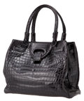 Luxury Accessories:Bags, Giorgio's of Palm Beach Large Matte Black Alligator Tote, Retail$13,000. ...