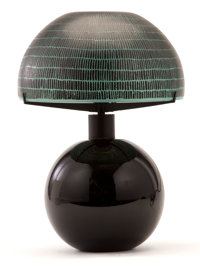A CONTINENTAL ART DECO TABLE LAMP Unknown designer, probably Austria, circa 1935 Unmarked 11-1/2 inches high