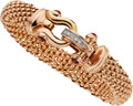 Estate Jewelry:Bracelets, Diamond, Pink Sapphire, Pink Gold Bracelet. ...
