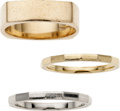 Estate Jewelry:Lots, Gentleman's Platinum, Gold Rings, Tiffany & Co. and Krementz. ... (Total: 3 Items)