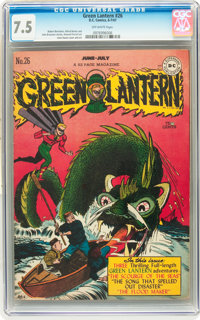 Green Lantern #26 (DC, 1947) CGC VF- 7.5 Off-white pages