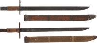 Two Exceptional Japanese Late War Type 30 Bayonets Manufactured by Toyada Automatic Loom Works