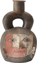 Antiques:Antiquities, Chavin Vessel with Painted Face...