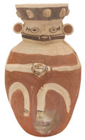 Antiques:Antiquities, Figural Vessel Carrying a Cup...