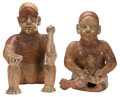 Antiques:Antiquities, Couple with Child... (Total: 2 Items)