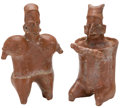 Antiques:Antiquities, Jalisco Red Slipped Couple... (Total: 2 Items)