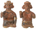 Antiques:Antiquities, Nayarit Polychrome Couple... (Total: 2 Items)