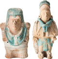 Antiques:Antiquities, A Maya Molded Couple... (Total: 2 Items)