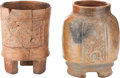 Antiques:Antiquities, A Lot of Two Maya Vessels... (Total: 2 Items)